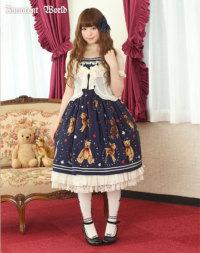 *モデル着用イメージ:ショコラ(マリンベアージャンパースカートとのコーディネート例)